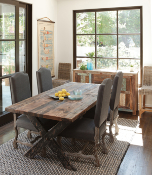 Aurora reclaimed elm dining table