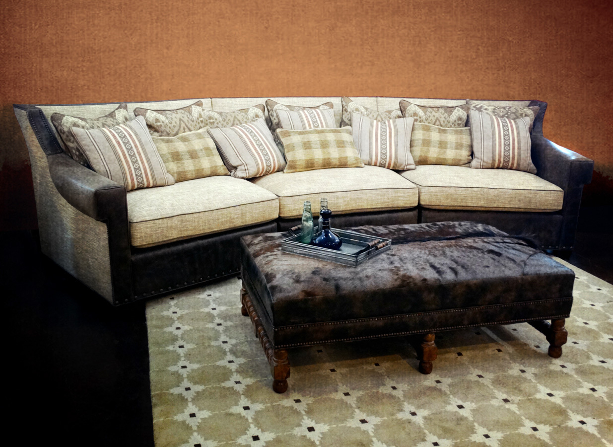 Noah sectional with Crowleigh ottoman